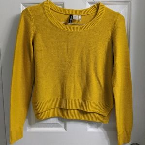 H&M Divided Basic Yellow Knit Sweater